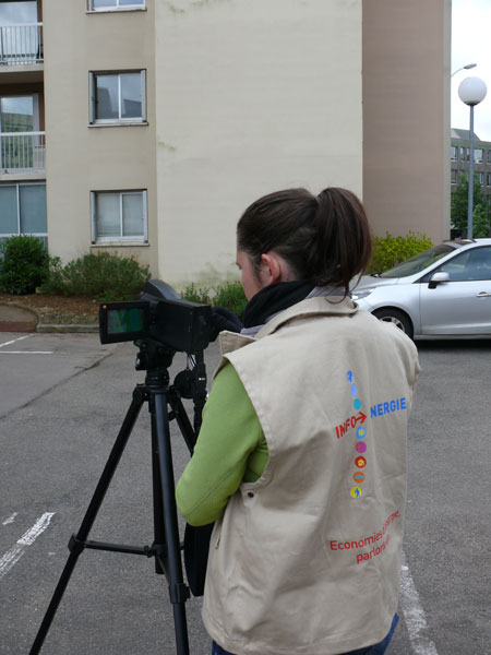 Camera thermique en situation INFO ENERGIE Bourgogne