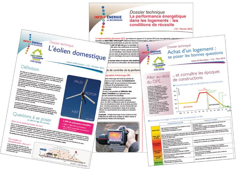 Dossiers techniques Info énergie en Bourgogne