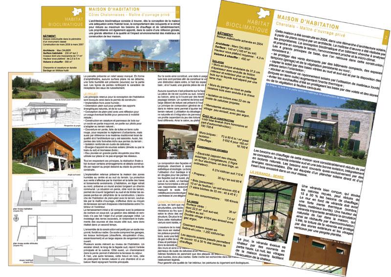Fiches opérations exemplaires Info énergie en Bourgogne