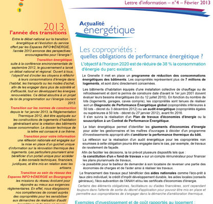 Lettre Info énergie en Bourgogne n°4