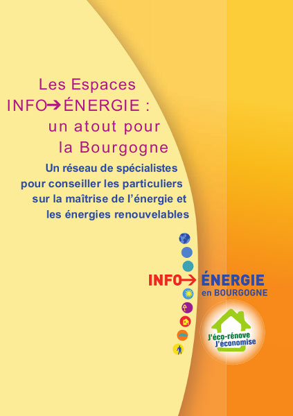 Plaquette institutionnels INFO ENERGIE Bourgogne