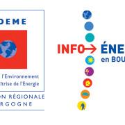logo ADEME Bourgogne et INFO ENERGIE en Bourgogne