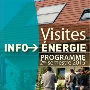 Programme visites info energie bourgogne 2ème semestre 2015