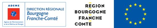 Les financeurs des Espaces INFO→ ÉNERGIE Bourgogne-Franche-Comté, membre du réseau FAIRE