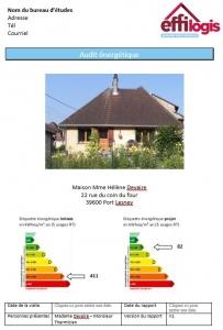 Rapport d'audit énergétique Effilogis